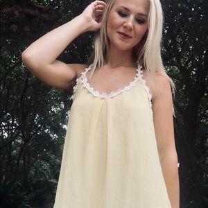 """""""The Clothing Company"""" Yellow Daisy Summer Dress"""